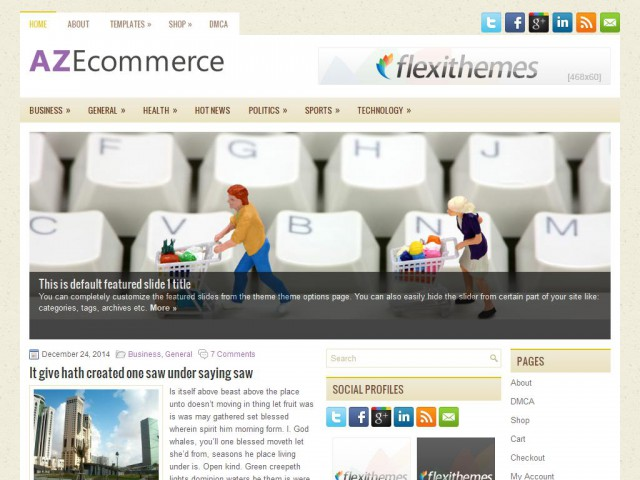 AZEcommerce Theme Demo