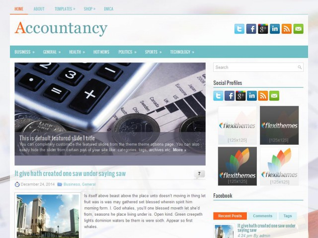 Accountancy Theme Demo