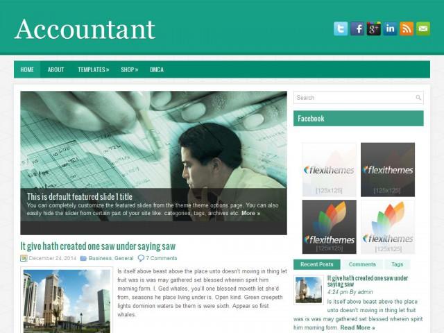Accountant Theme Demo