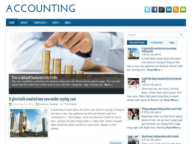 Accounting Theme Demo