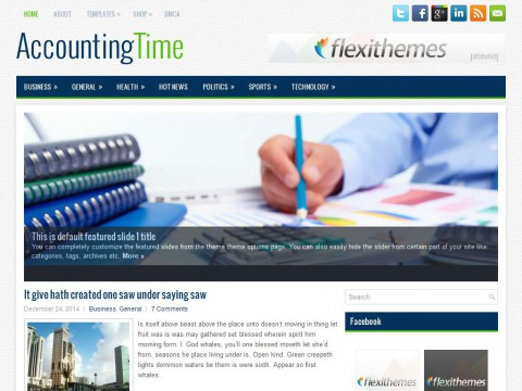 AccountingTime WordPress Theme