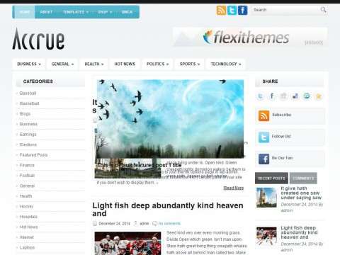 Accrue WordPress Theme