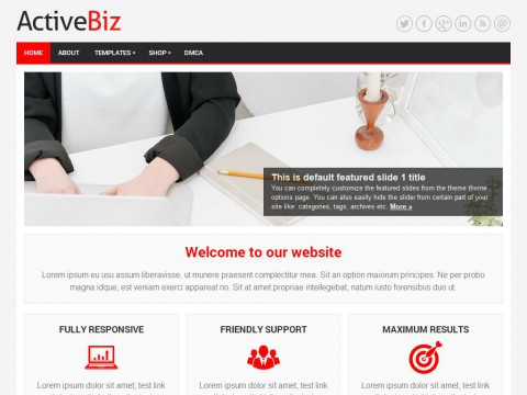ActiveBiz WordPress Theme
