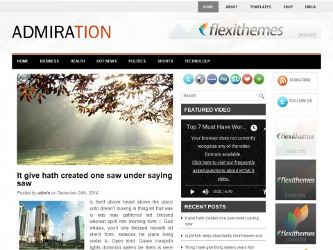 Admiration WordPress Theme