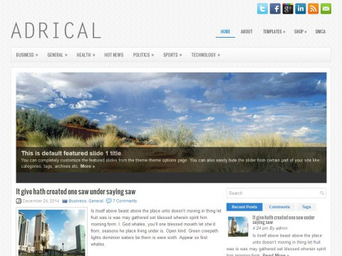 Adrical WordPress Theme