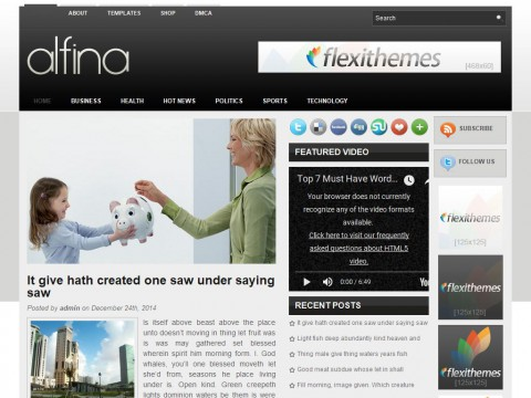 Alfina WordPress Theme