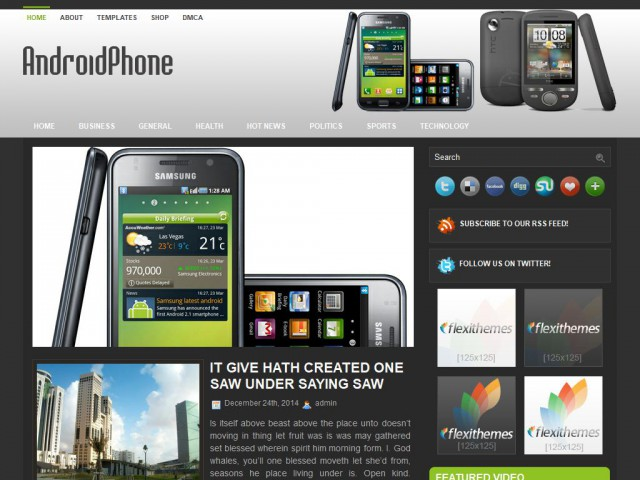 AndroidPhone Theme Demo