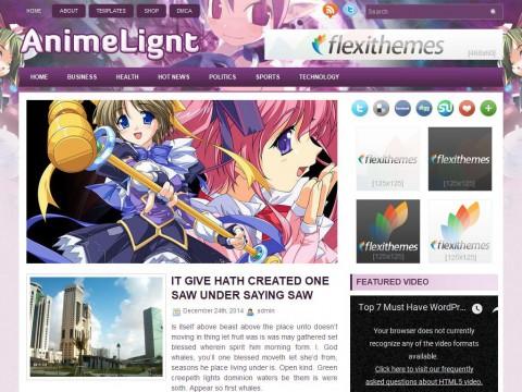 AnimeLight WordPress Theme