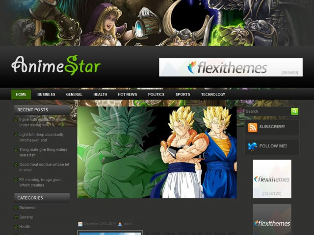 AnimeStar Theme Demo