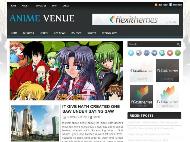 Anime Venue - A Free General/Blog WordPress Theme by FlexiThemes