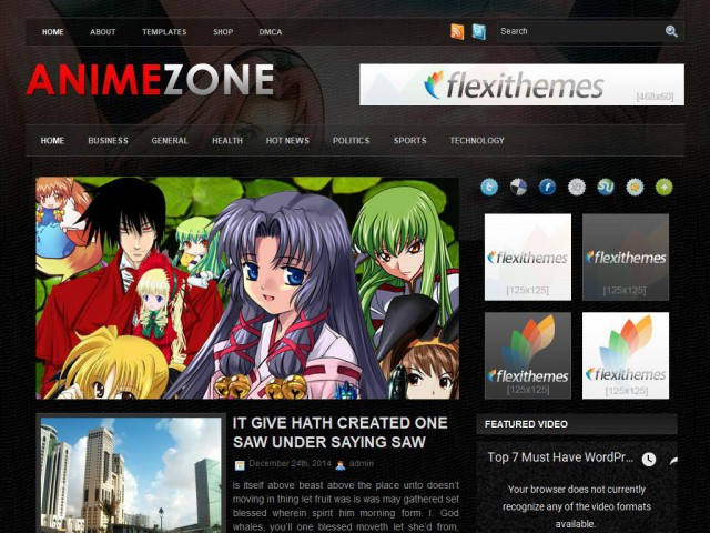 Anime Zone Theme Demo