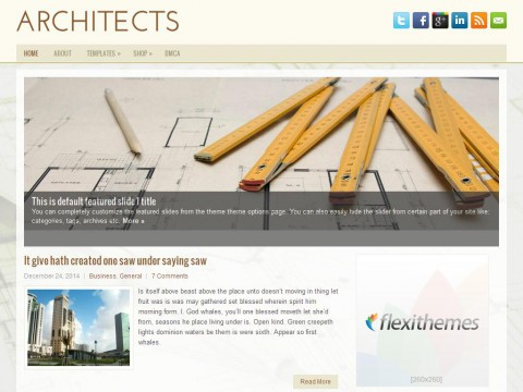 Architects WordPress Theme