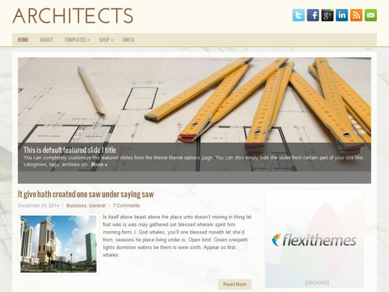 Architects wordpress theme by flexithemes for Architecture wordpress