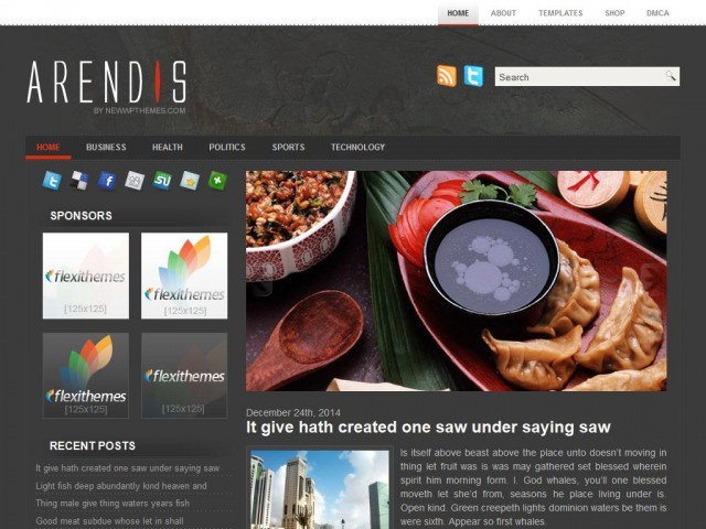Arendis Theme Demo