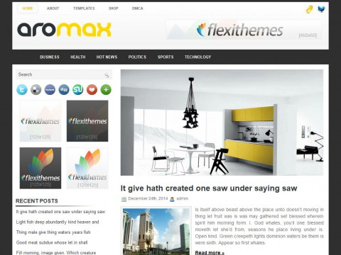 Aromax WordPress Theme