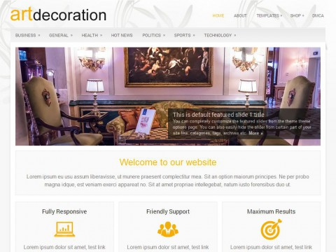 ArtDecoration WordPress Theme