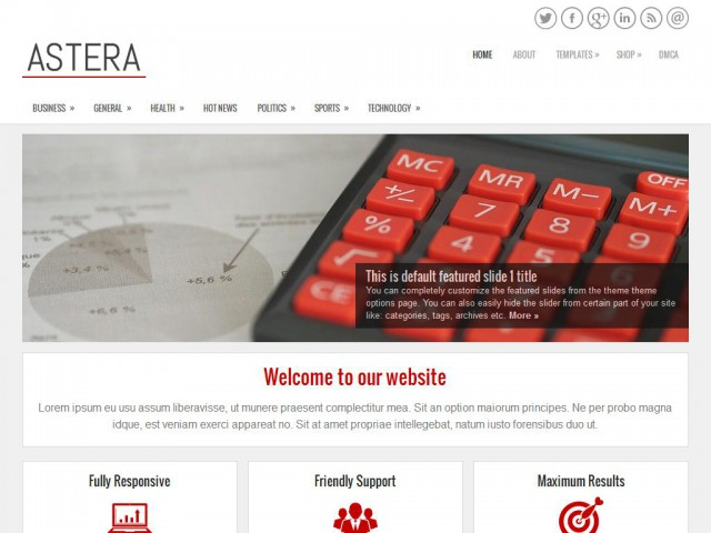 Astera Theme Demo
