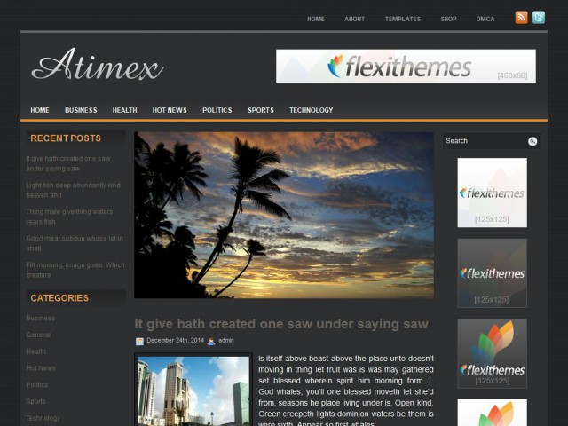 Atimex Theme Demo