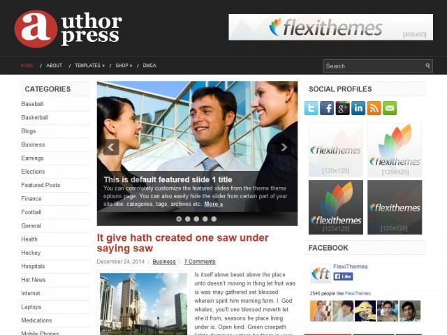 AuthorPress Theme Demo