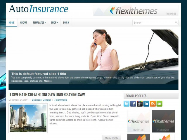AutoInsurance Theme Demo