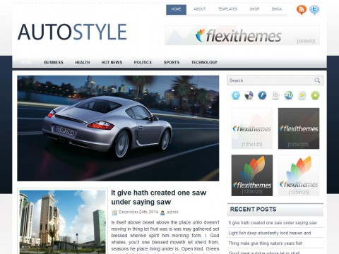 AutoStyle WordPress Theme