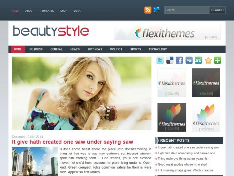 Beauty Style WordPress Theme