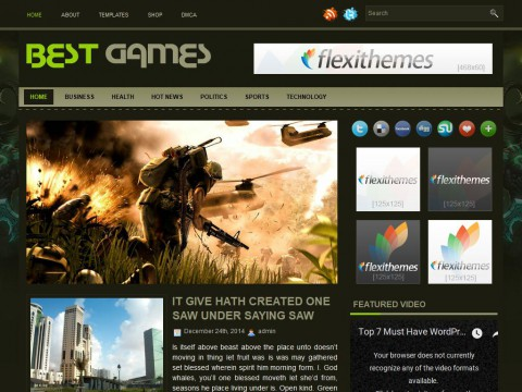 BestGames WordPress Theme