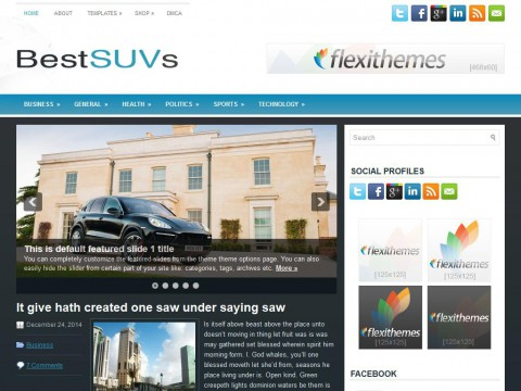 BestSUVs WordPress Theme