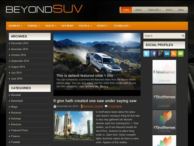 BeyondSuvs Theme Demo