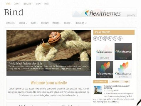 Bind WordPress Theme