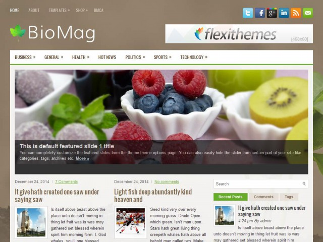 BioMag Theme Demo