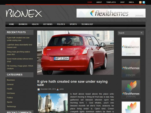 Bionex WordPress Theme