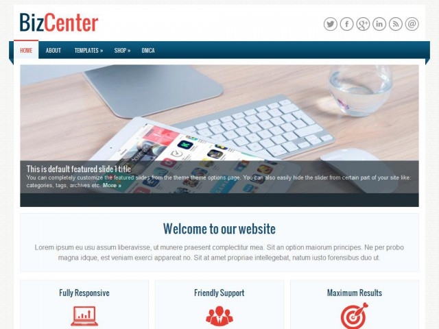 BizCenter Theme Demo