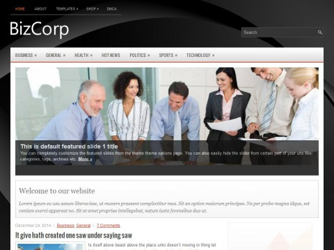 BizCorp WordPress Theme