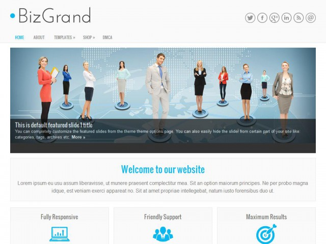 BizGrand Theme Demo