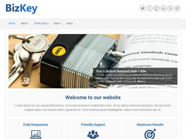 BizKey Theme Demo