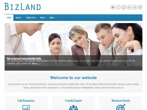 BizLand WordPress Theme