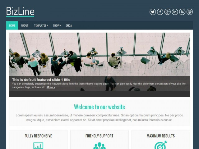 BizLine Theme Demo