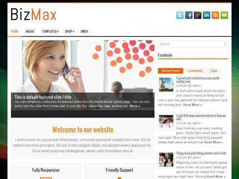 BizMax WordPress Theme