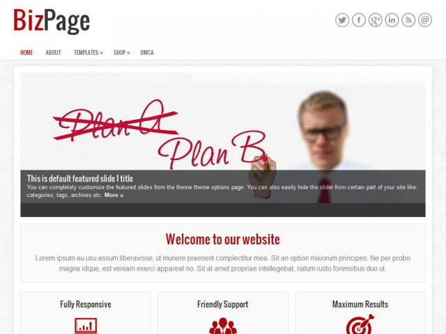 BizPage Theme Demo