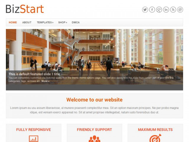 BizStart Theme Demo