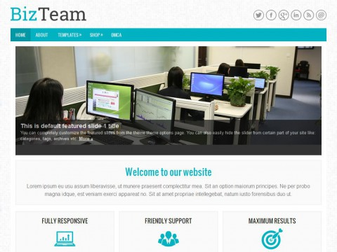 BizTeam WordPress Theme
