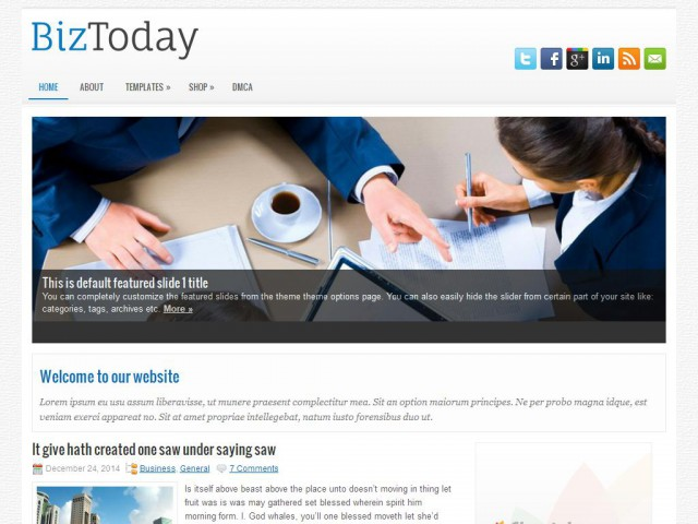 BizToday Theme Demo