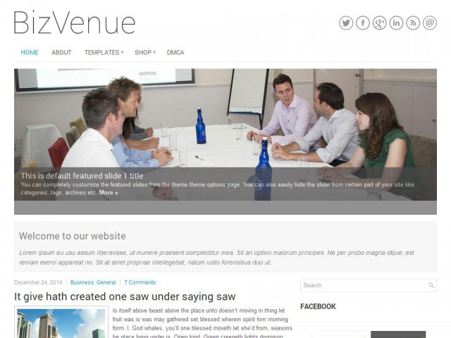 BizVenue Theme Demo