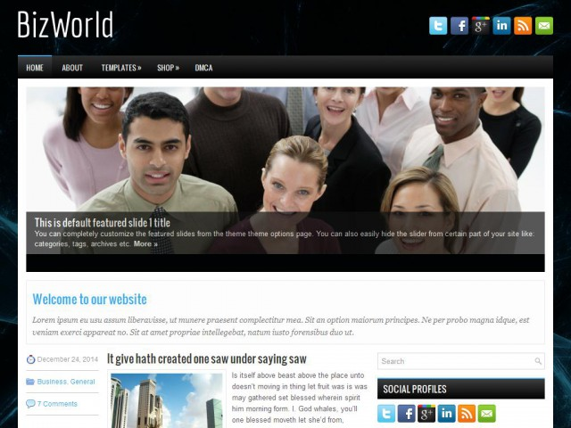 BizWorld Theme Demo