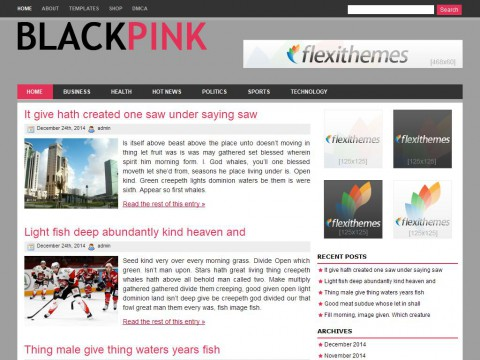 Black Pink WordPress Theme