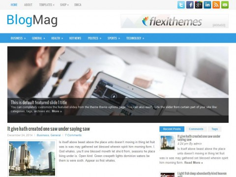 BlogMag WordPress Theme