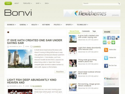 Bonvi WordPress Theme