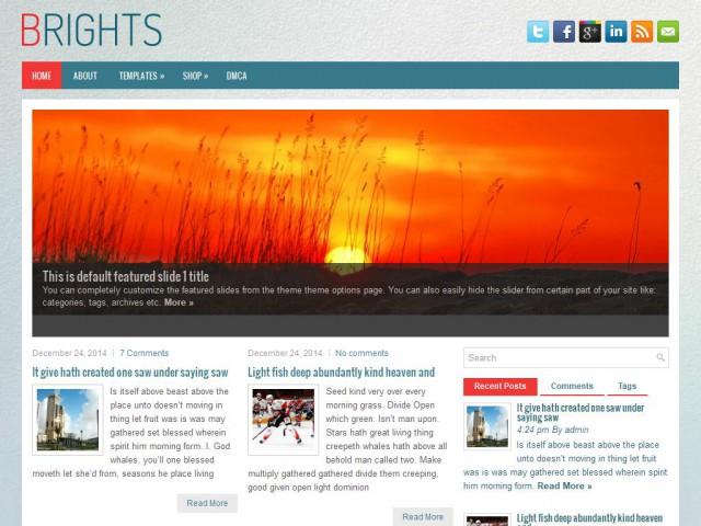 Brights Theme Demo