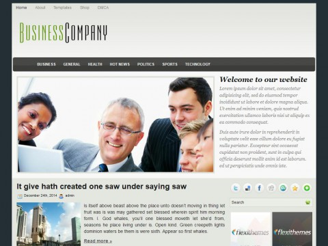 BusinessCompany WordPress Theme